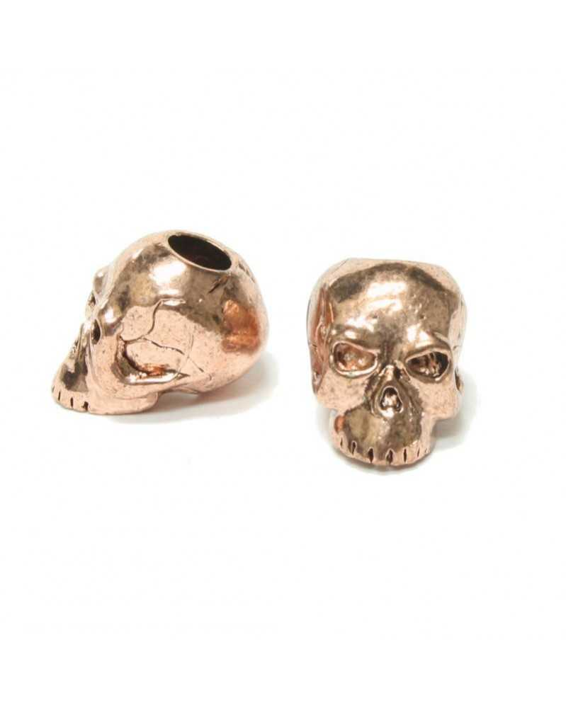 Classic Skull Plated Antique Copper USA Made Single Bead