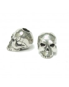 Schmuckatelli Pewter Classic Skull Bead USA Made