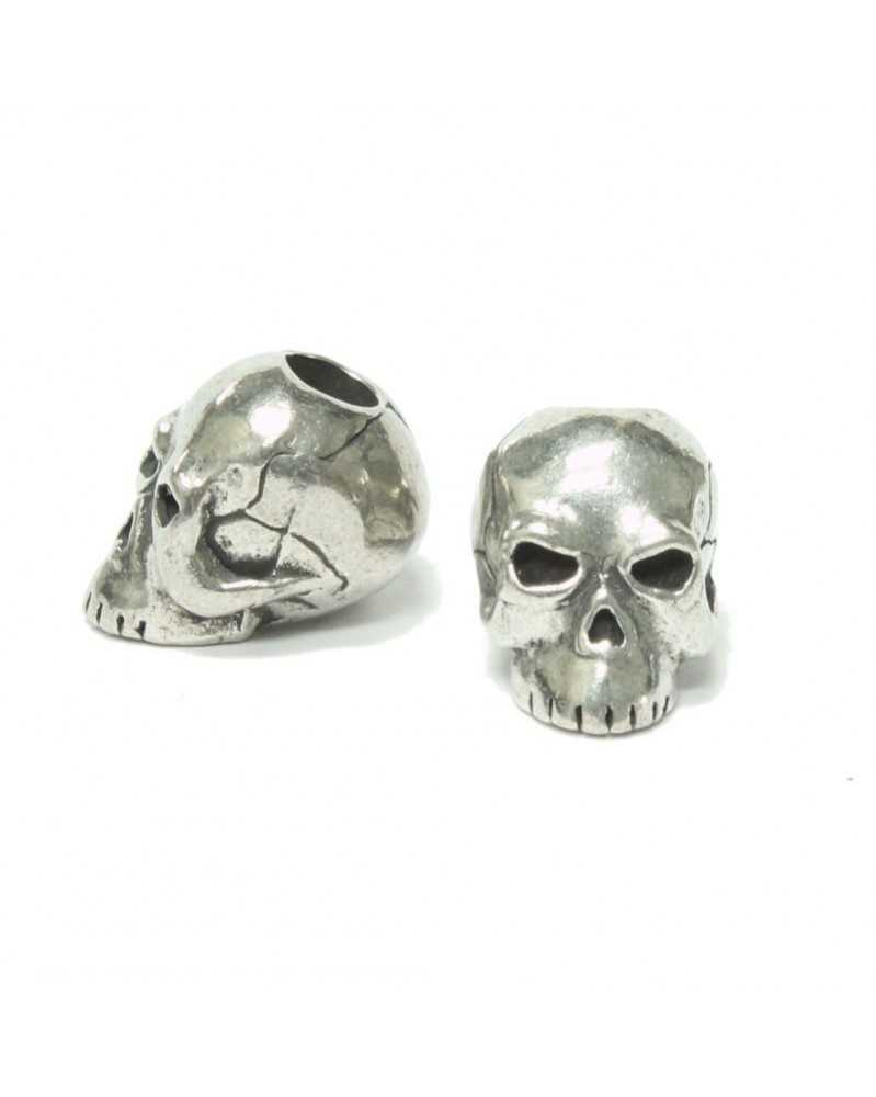 Classic Skull Pewter USA Made Single Bead