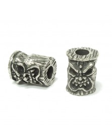 Schmuckatelli Pewter Ona Tiki Bead USA Made