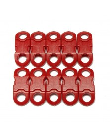 "10 PACK - 1/4"" - RED BRIGHT - Side Release Buckles with Round Ends"