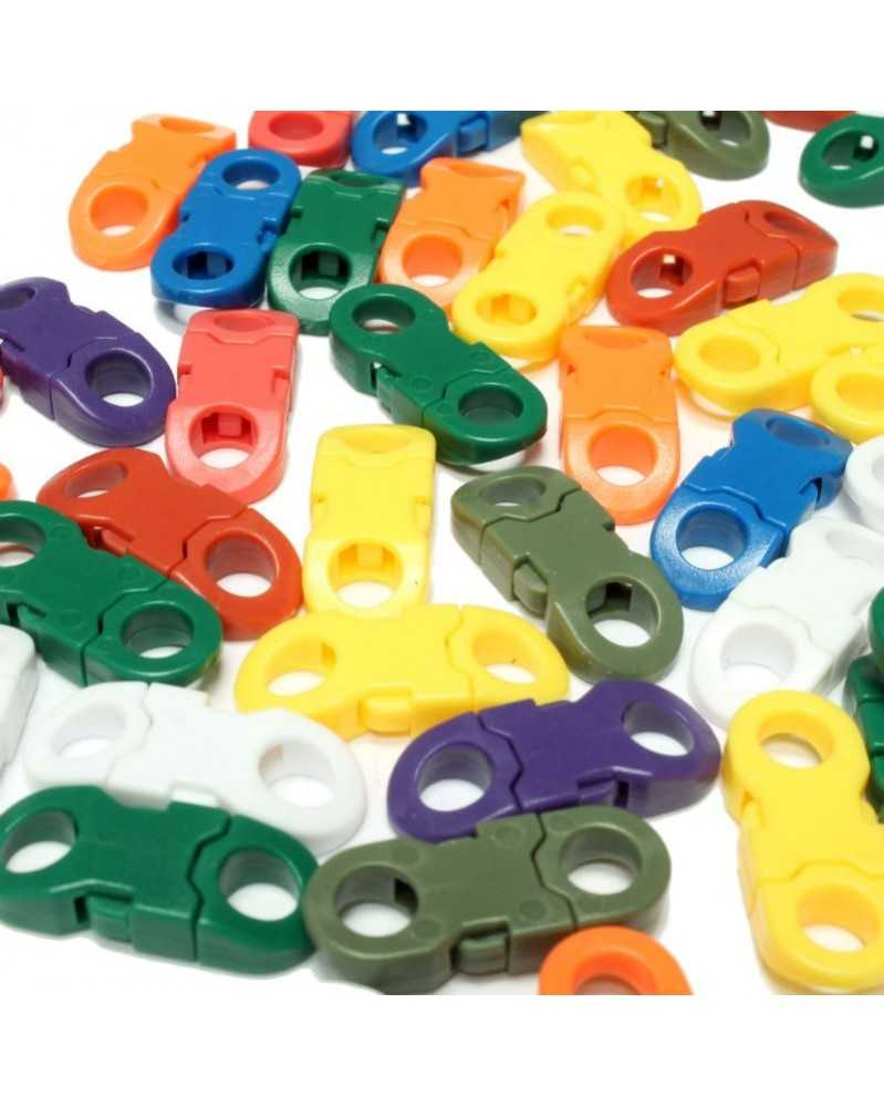 "50 PACK - 1/4"" - MIXED COLOR - Side Release Round Ends"