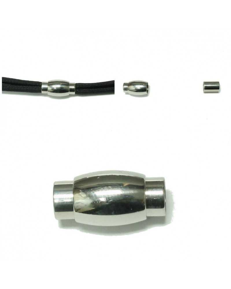 Stainless Steel Magnet Clasps Oval for Paracord Bracelets