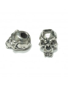 Schmuckatelli Pewter Fang Skull Bead USA Made