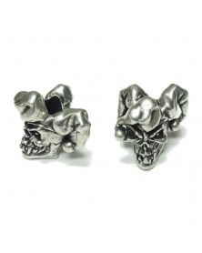 Schmuckatelli Pewter Jester Skull Bead USA Made