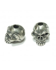 Schmuckatelli Pewter Emerson Skull Jumbo Bead USA Made