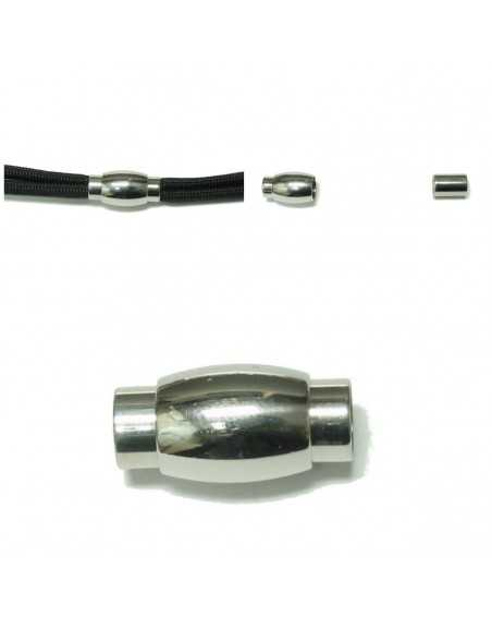 5mm Stainless Steel Magnet Clasps Oval for Paracord Bracelets