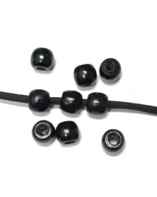 Black Wood Bead