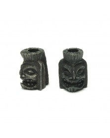 Schmuckatelli Black Oxidized Plated Ku Tiki USA Made