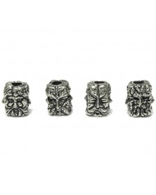 Schmuckatelli Pewter Green Man Pewter Bead USA Made