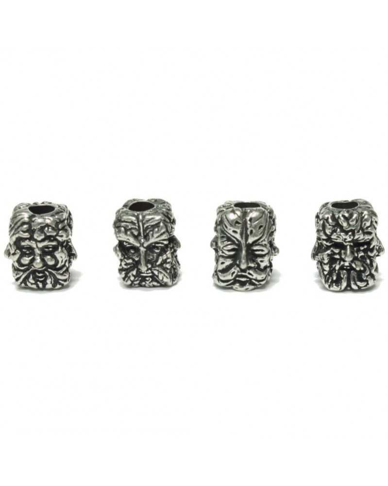 Green Man Pewter Bead USA Made Single Bead
