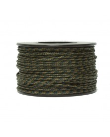 Micro Cord Camo Woodland 1.18mm 125 ft Made in USA