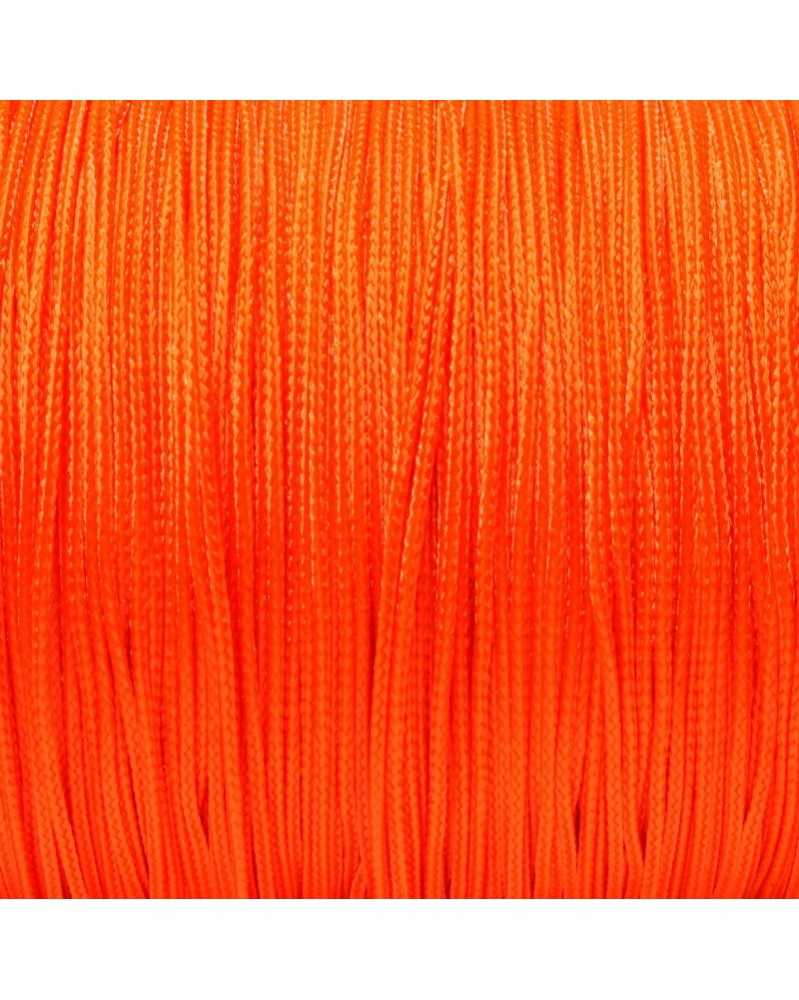 Micro Cord Neon Orange 1.18mm 125 ft Made in USA