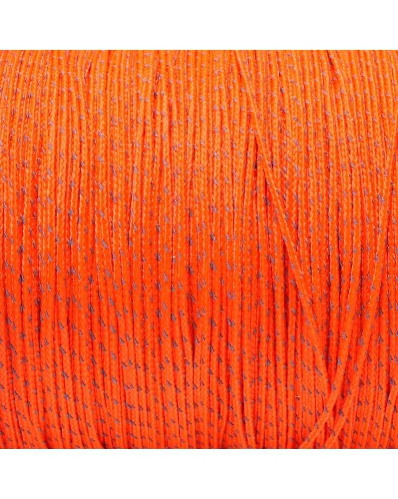 Micro Cord Reflective Orange 1.18mm 125 ft Made in USA