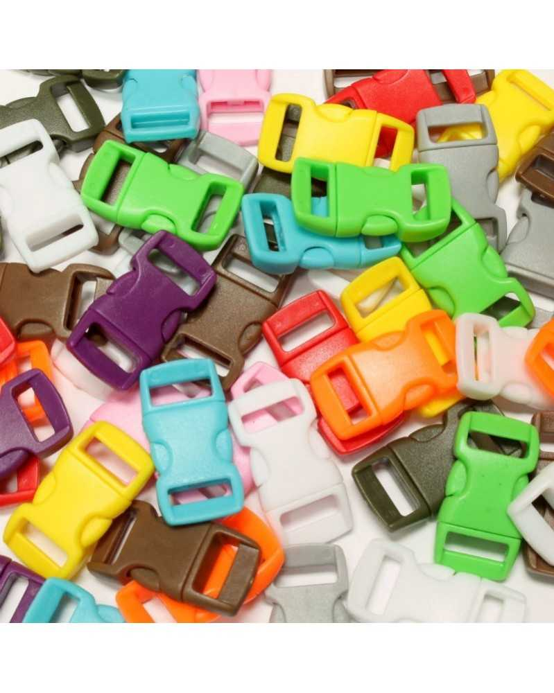 "50 PACK - 3/8"" -50MIXED COLOR - Side Release Buckles"