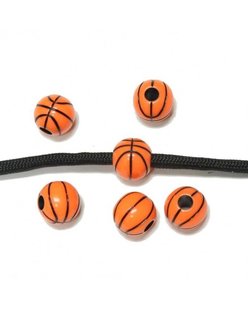 10 PACK - Basketball - Acrylic - Bead/Charm for Paracord