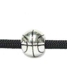Antique Silver - Basketball - Bead/Charm for Paracord