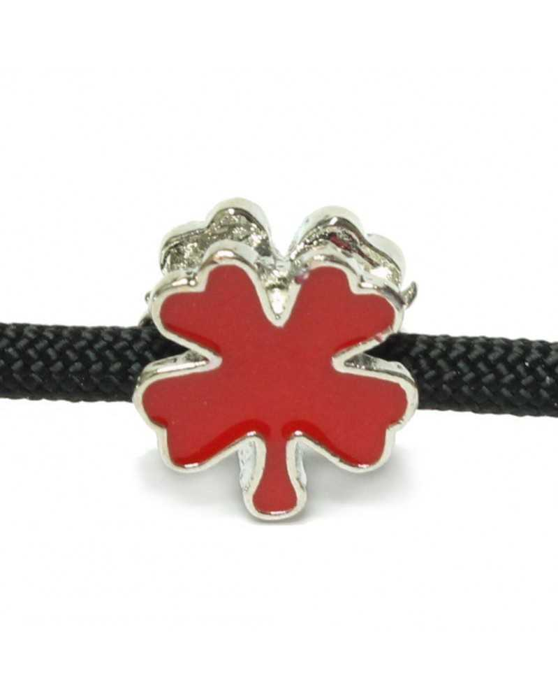 Single Charm Red Clover Leaf