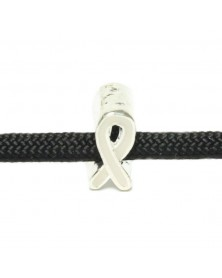 Single Charm White Ribbon