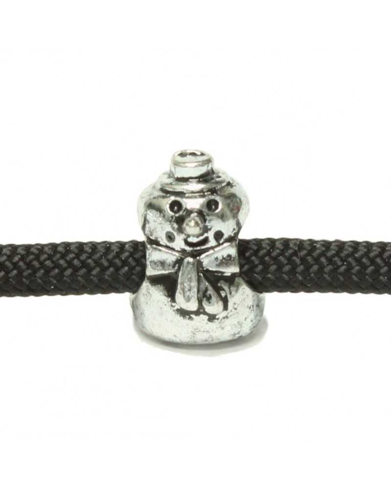 10 PACK - Snowman - Antique Silver Plated - Bead/Charm for Paracord