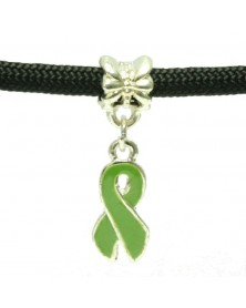Light Green Ribbon Awareness Charm