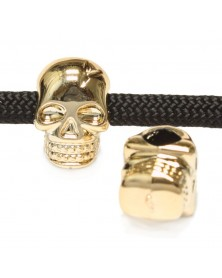 Skull Bead Gold Color - Double Sided