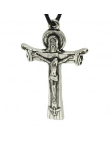 Antique Silver Jesus on Cross (INRI) Charm