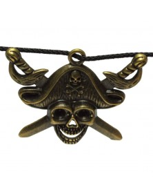 Pirate Skull and Swords Charm