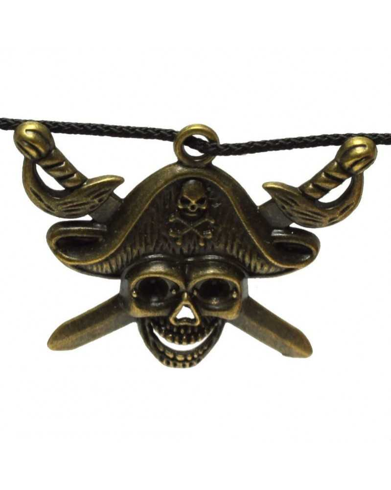 Single Pirate Skull and Swords Charm