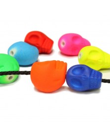 Bright Neon Skull Beads Mixed Colors