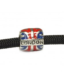 Barrel Bead/Charm London Union Jack