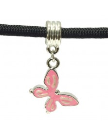 Butterfly Dangle Charm in Pink