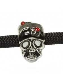 Single -Skull with Red Jewel - Bead/Charm for Paracord