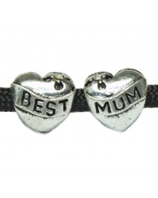Best Mum Heart Shaped Bead