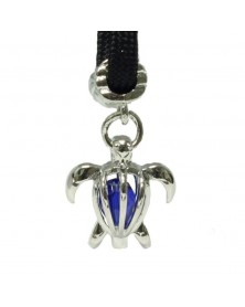 Single Blue Crystal Sea Turtle Charm for Paracord