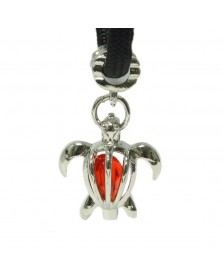 Red Crystal Sea Turtle Charm