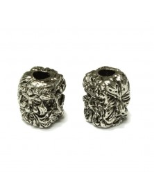 Schmuckatelli Antique Rhodium Plated Green Man Bead USA Made