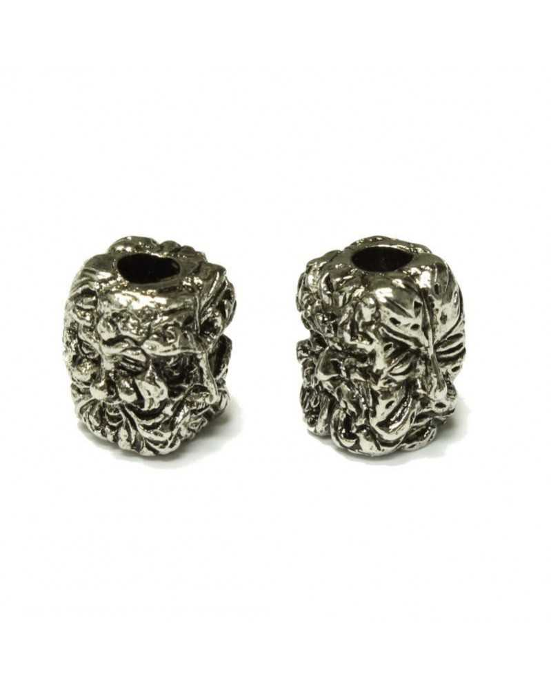 Green Man Plated Antique Rhodium Bead USA Made Single Bead