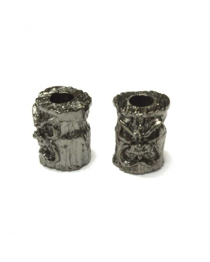 Ona Tiki Plated Hematite Matte Finish USA Made Single Bead