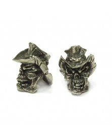 Schmuckatelli Pewter Vinnie Garoon Cowboy Skull bead USA Made