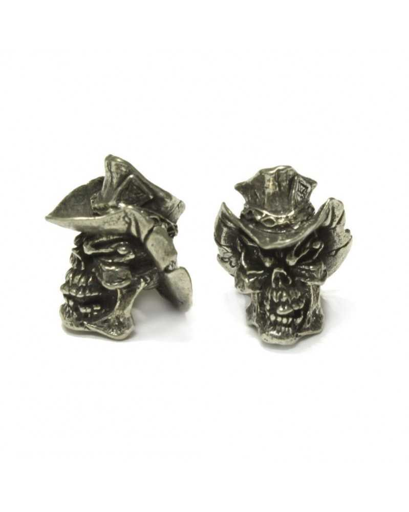 Vinnie Garoon Cowboy Skull Pewter USA Made Single Bead