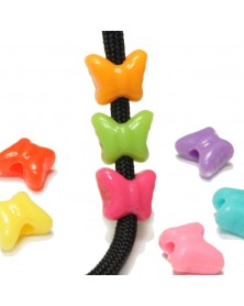 Butterfly Beads (Assorted Colors) - Plastic Beads