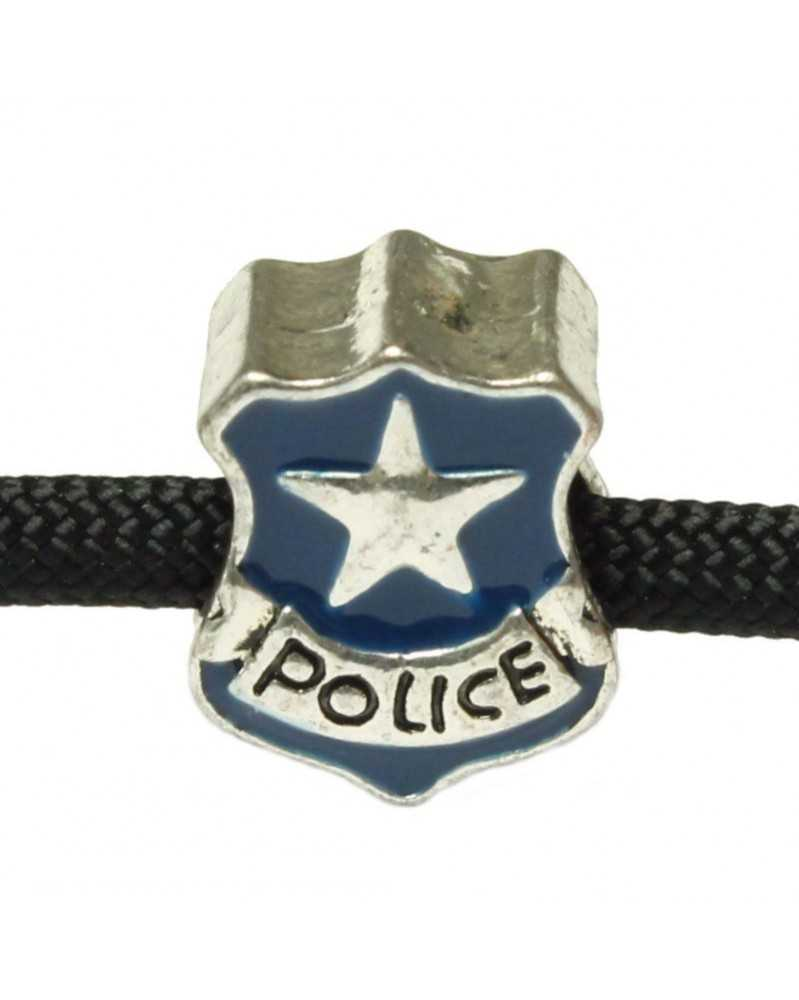 Blue Police Badge - Bead/Charm for Paracord
