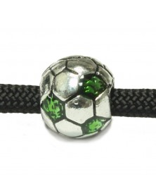 Soccer Ball with Green Spot Bead