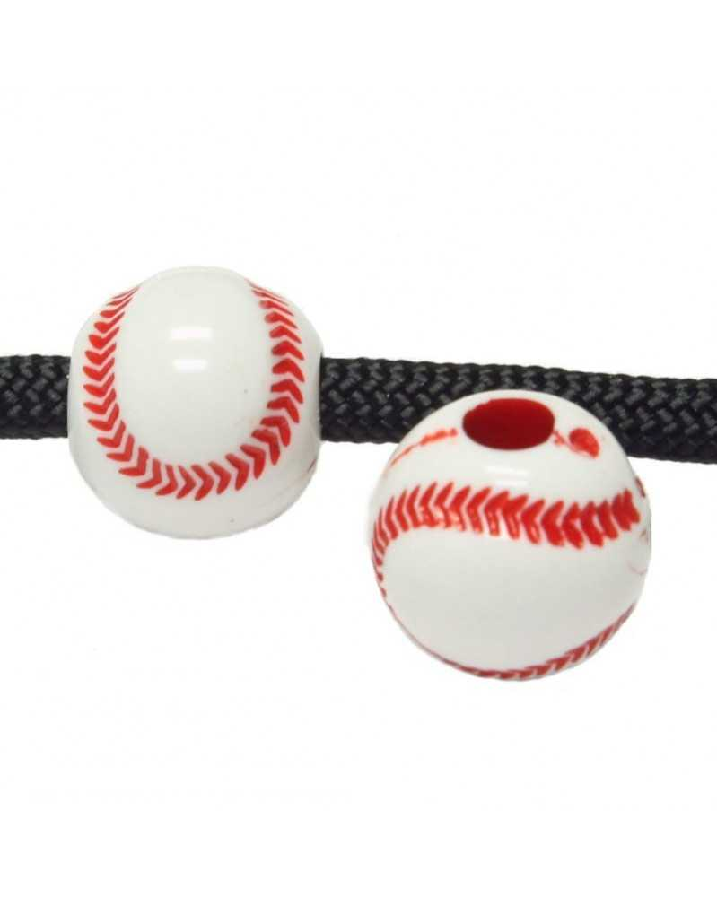 10 PACK - Baseball - Acrylic - Bead/Charm for Paracord