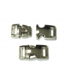 BZ 3/8 IN - HIGH POLISH NICKEL PLATED ALUMINUM - Side Release Buckle