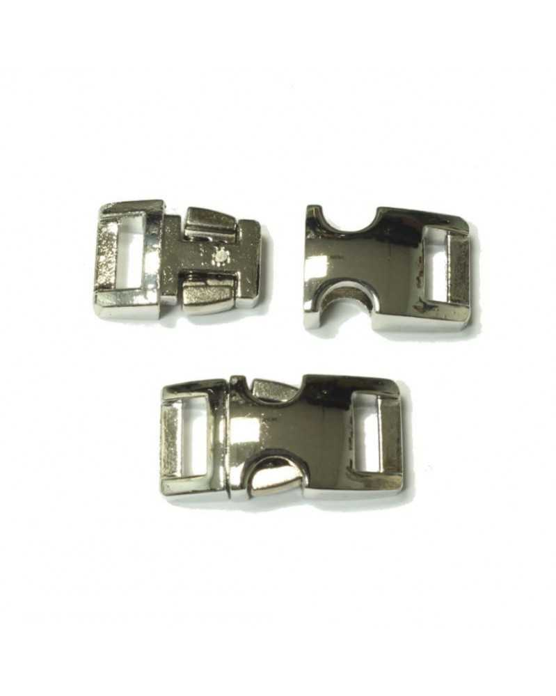 BZ 3/8 IN - HIGH POLISH NICKEL PLATED ZINC - Side Release Buckle
