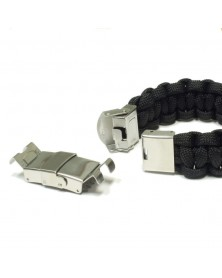Large Crimp Jaw Clasp Stainless Steel