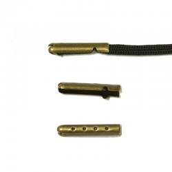 Shoe Lace Aglet Tips - Bronze