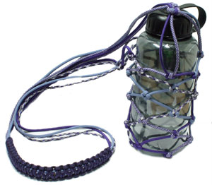 Paracord Net-Style Water Bottle Carrier